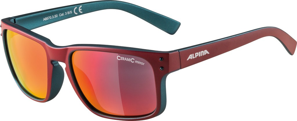 Slunecní brýle Alpina Kosmic, Obroucky treš. mat.sklo cervená zrcad.S3