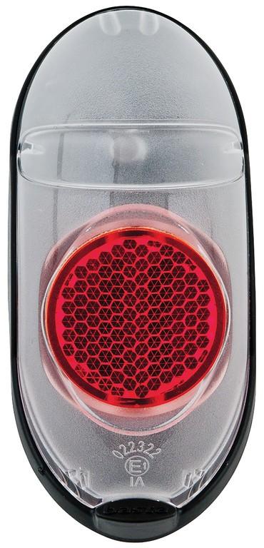Dynamo-(E-)zadní svetlo Axa Go Steady, pro montហna blatník, transp.cervená