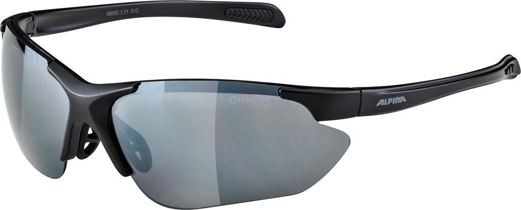 Slunecní brýle Alpina Jalix, Obroucky crn matná Skla crn zrcadl.S3