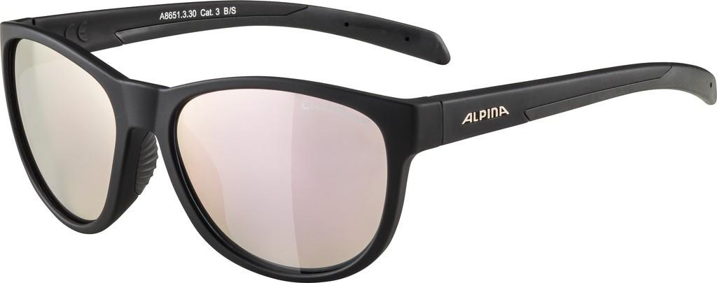 Slunecní brýle Alpina Nacan II, Obroucky cerná mat.sklo ruž-zlatá zrc.