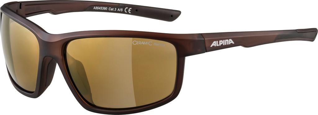 Slunecní brýle  Alpina Defey Obrouc.hnedá pruhl.mat. sklo zlatá zrc.