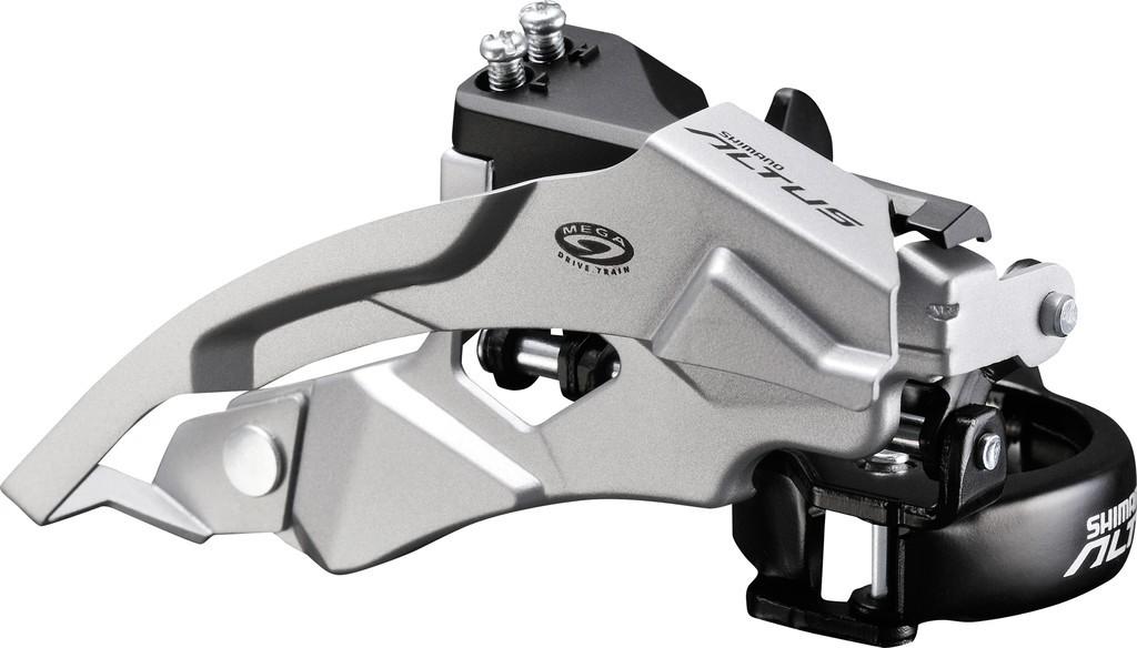 Shimano přesmykač ALTUS FD-M370 MTB pro 3x9 obj. 34,9/31,8 + 28,6 Top-swing dual pull 44/48 z