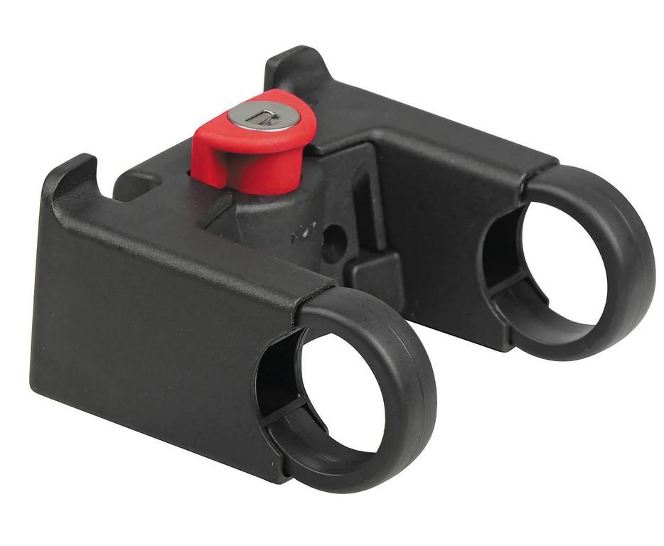Adaptér na rdítka KLICKfix uzamyk., cerná, pro Ø 22-26mm, uzamyk.