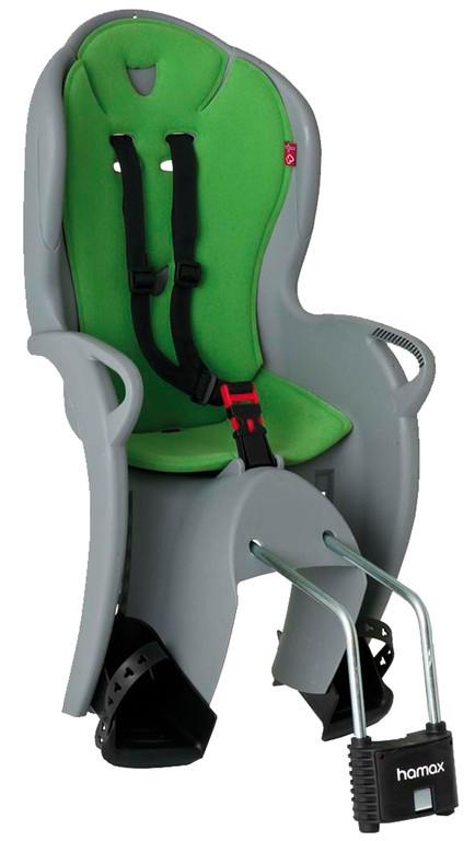 Detská sedacka Hamax Kiss šedá/zelená, upevnení na rám