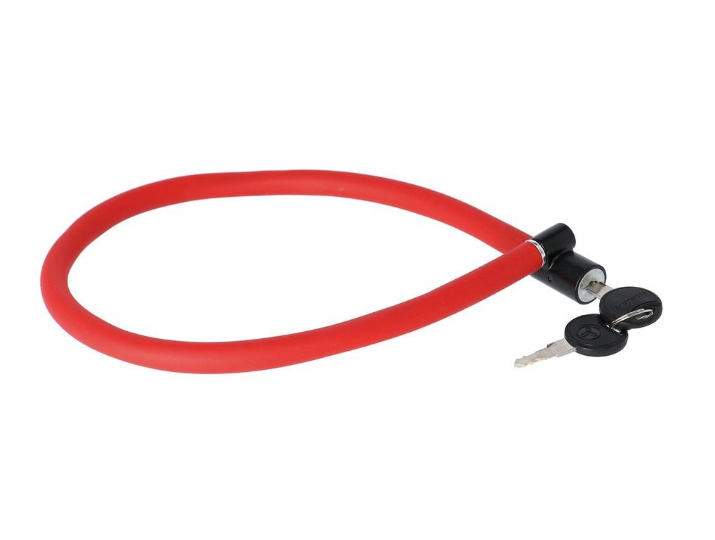 Kabel.zámek s císly Trelock 60cm,6mm, KS 106/60/6,cervená,bez držáku