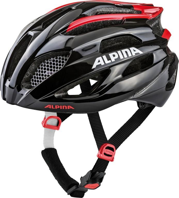 Cyklistická helma Alpina Fedaia, black-red vel.58-63cm