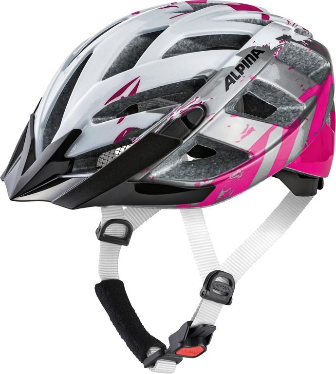 Cyklistická helma Alpina Panoma 2.0, pearlwhite-magenta vel.52-57cm