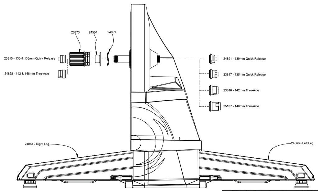Koncovka pevné osy 142mm CycleOps,levá, pro Hammer