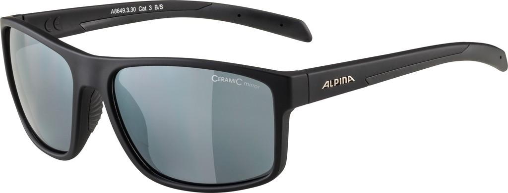 Slunecní brýle Alpina Nacan I, Obroucky cerná mat. sklo cerná zrcadl.