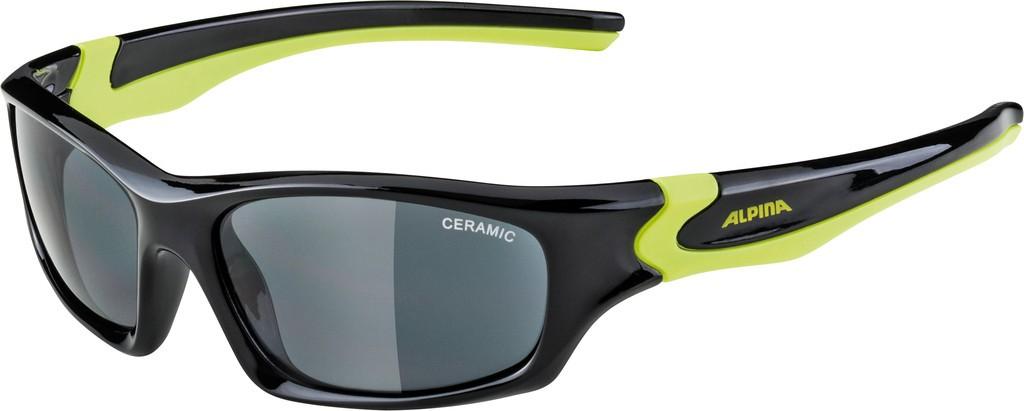 Slunecní brýle Alpina Flexxy Teen, Obroucky cerná/neon.žlutáSkla crn zrc.S3