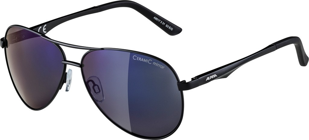 Slunecní brýle Alpina A 107, Obroucky cerná matnáSkla modrá zrcadl.S3