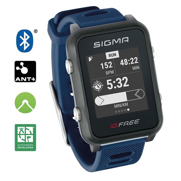Sport. hodinky Sigma ID Free modrá
