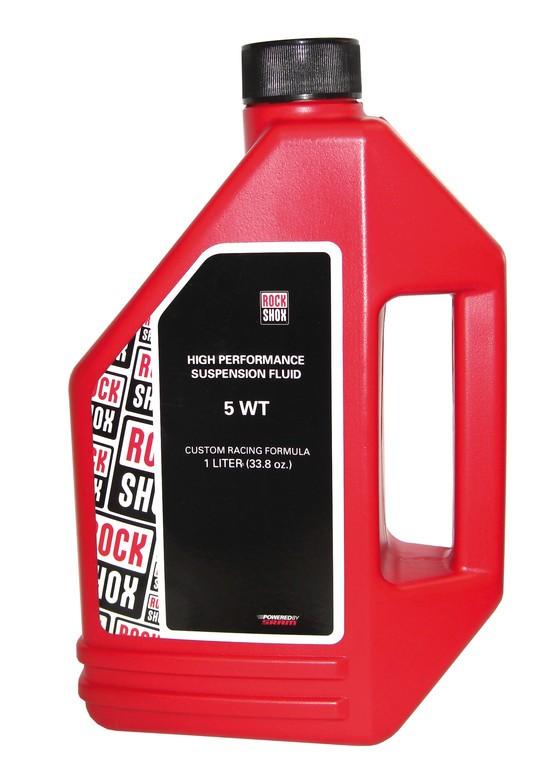 RockShox olej, 5wt, 1 litr láhev - pro tlumení vidlice