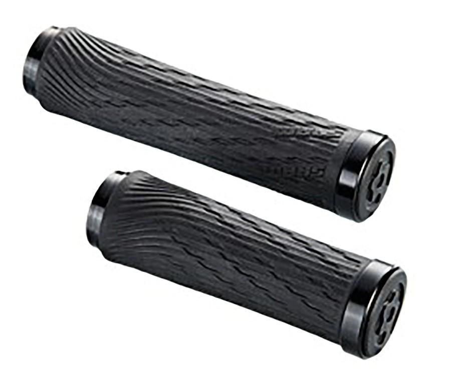 Locking gripy pro XX1 otočné řazení 100mm a 122mm s černou objímkou a s koncovkou řidítek