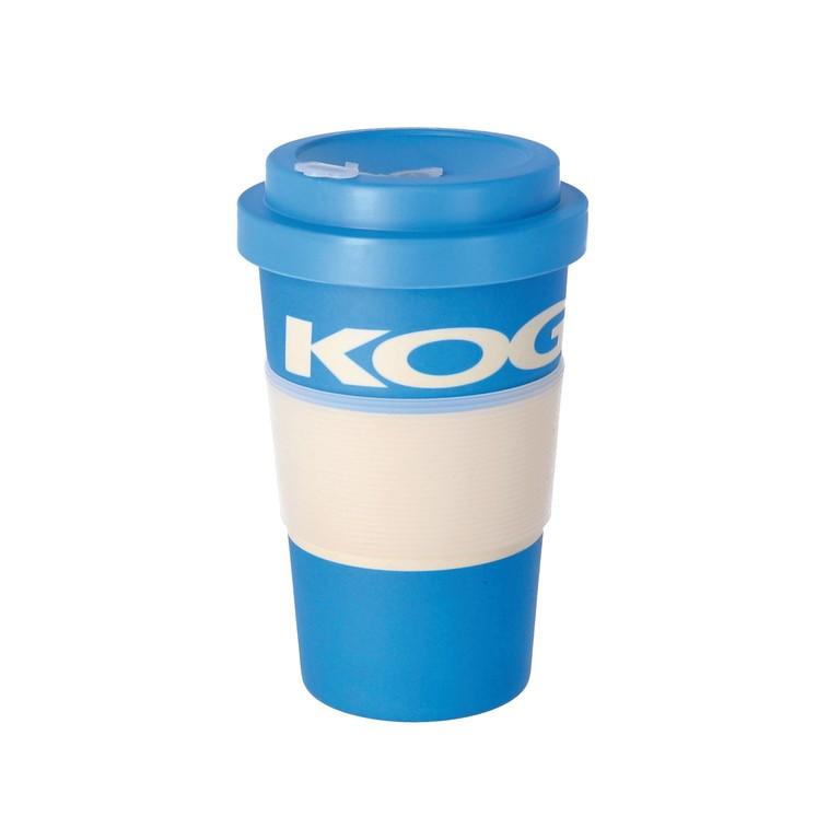 Coffe-to-GO-KOGA kelímek modrá, bambus, 400ml