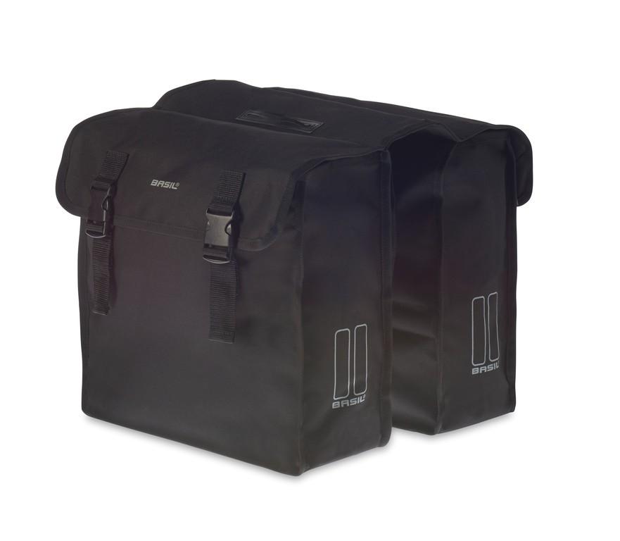 Dvojitá taška Basil Mara XL cerná, 36x14x42,5cm, 35 l
