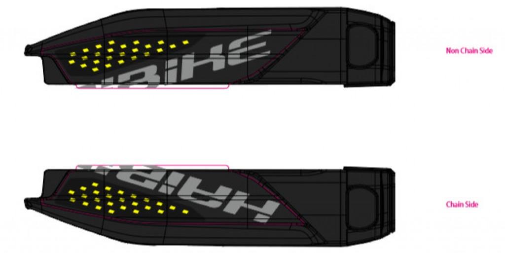 Dekor E-Bike Xduro p.kryt baterie, 2018, žlutá