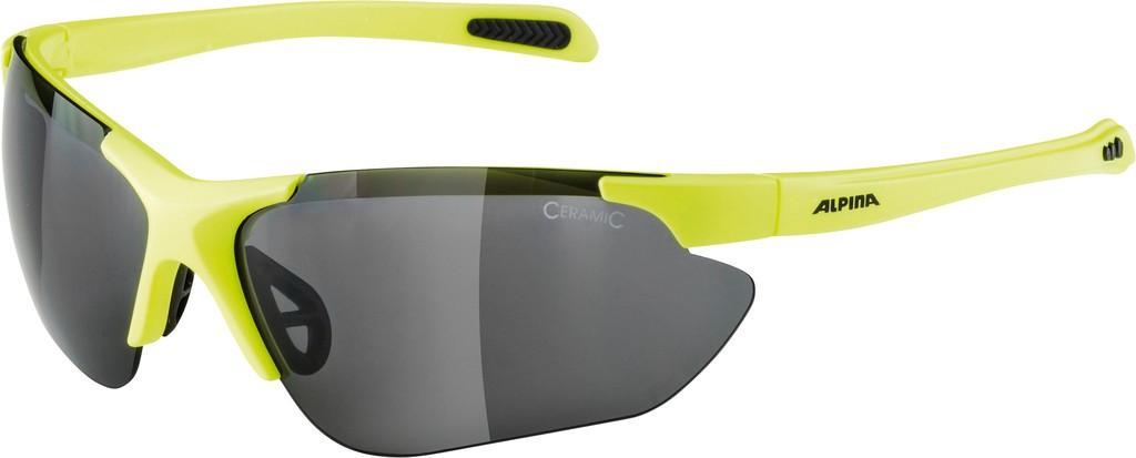 Slunecní brýle Alpina Jalix, Obroucky neon.žlutá/crnSkla cerná zrc.S3