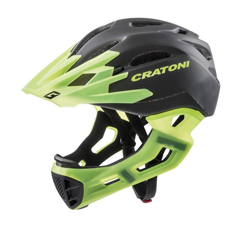 Cykl.helma Cratoni C-Maniac (Freeride), vel.S/M (52-56cm) cerná/tzelená matná