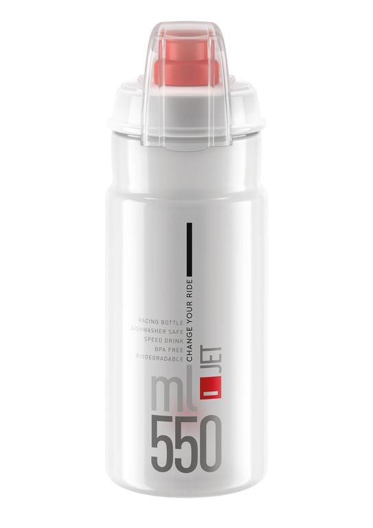 Láhev Elite Jet Plus, 550ml, cirá/cervená