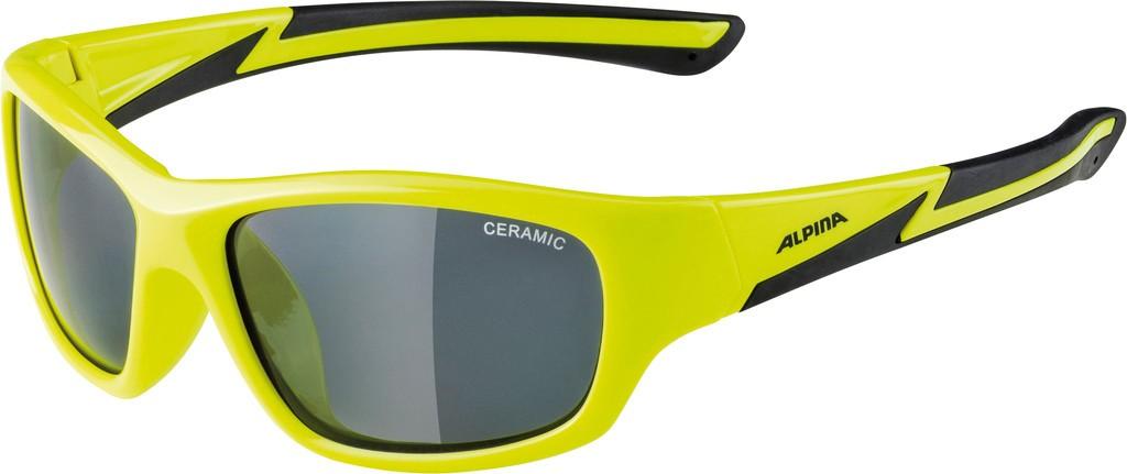 Slunecní brýle Alpina Flexxy Youth, Obroucky neon.žlutá/cernáSkla crn zrc.S3
