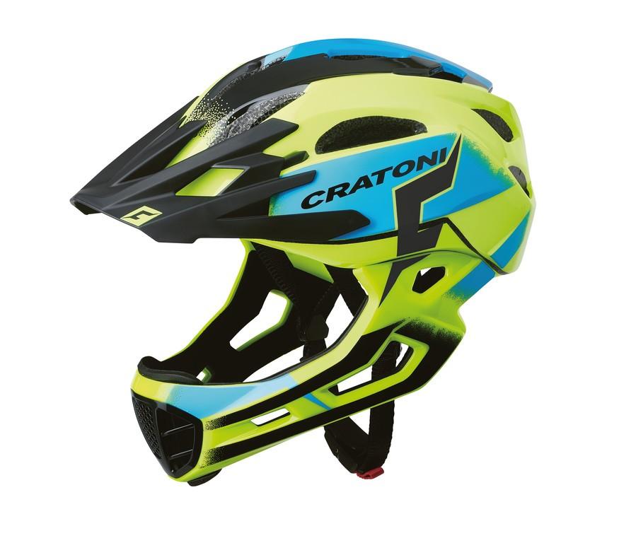 Cratoni C-Maniac Pro (MTB), Vel. S/M (52-56cm) žlutá/modrá lesk
