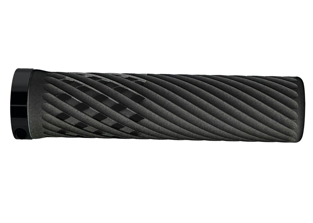 Gripy Herrmans Luna Lock, 130mm, Ø 22mm, cerná, pár