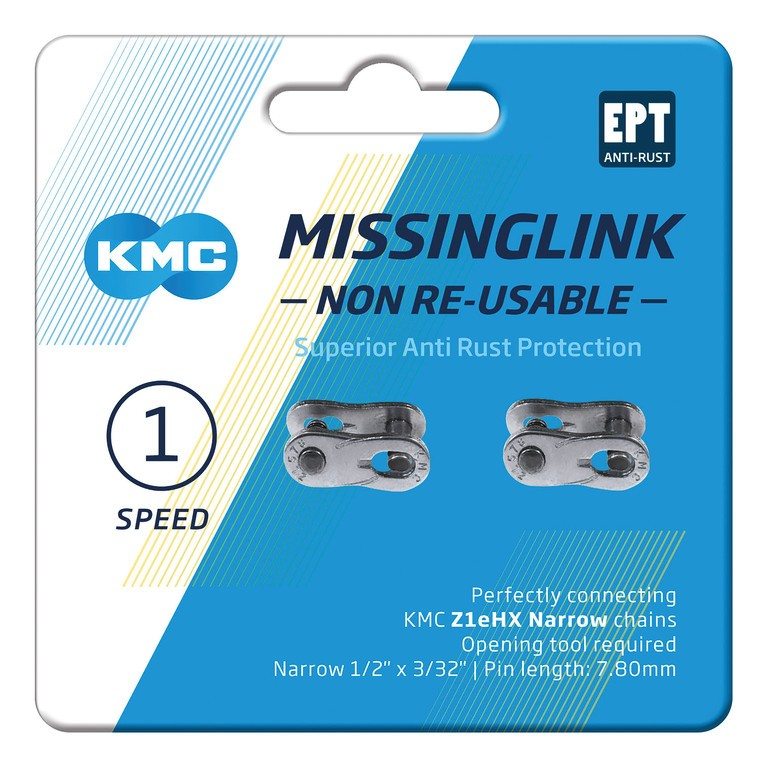 KMC Missinglink ML Z1 eHX NR (2 ks) stříbrná