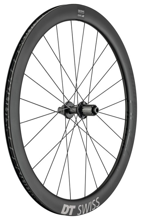 "DT SwissARC1400 Dicut 48 DB 28""/17mm,Carbon, Center Lock, 142/12 mm TA, Shim."