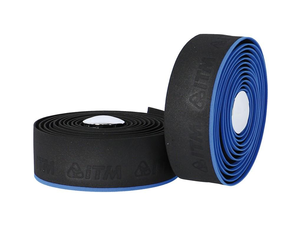 Páska na rídítka ITM EVA mit Linie,cerná, modrá linka
