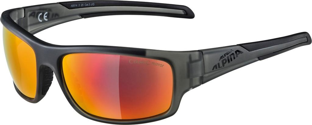Slunecní brýle Alpina Testido, Obr.antr.matná crnSklo cervená zrcadl.S3