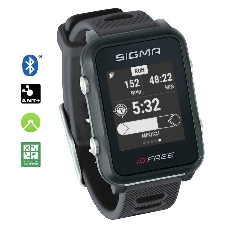 Sport. hodinky Sigma ID Free šedá