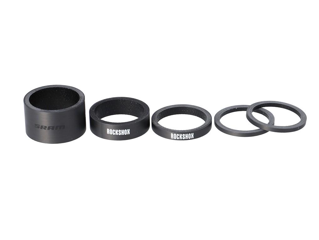 Hlav.složení-objímka-sada RS UD Carbon, 2.5mm x 2, 5mm x 1, 10mm x 1, 20mm x 1