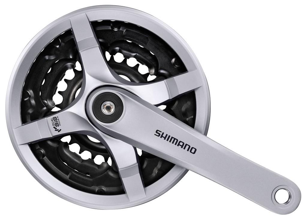 Shimano kliky TOURNEY FC-TY501 4hran 3x6/7/8 170mm 42x34x24z s krytem stříbrné