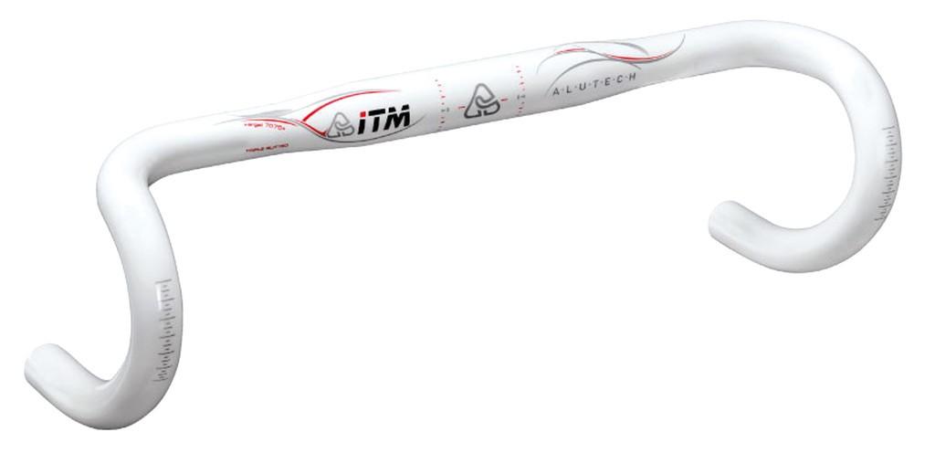 Závodní ridítka ITM Altechnologie7075wht, Ø31,8 mm,400mm,Al 7075 bíle lakované