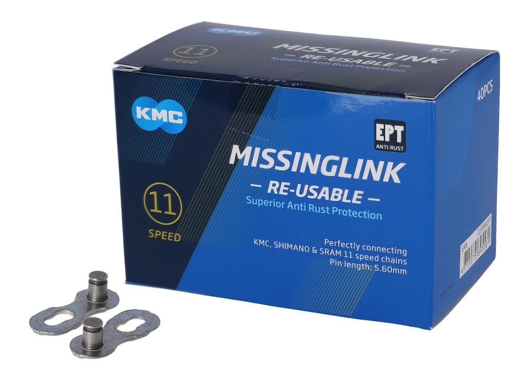KMC Missinglink 11R EPT (40 ks) stříbrná