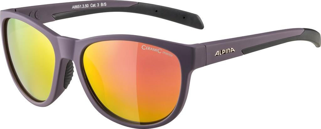 Slunecní brýle Alpina Nacan II, Obroucky cerná sklo fial.zrcadl.