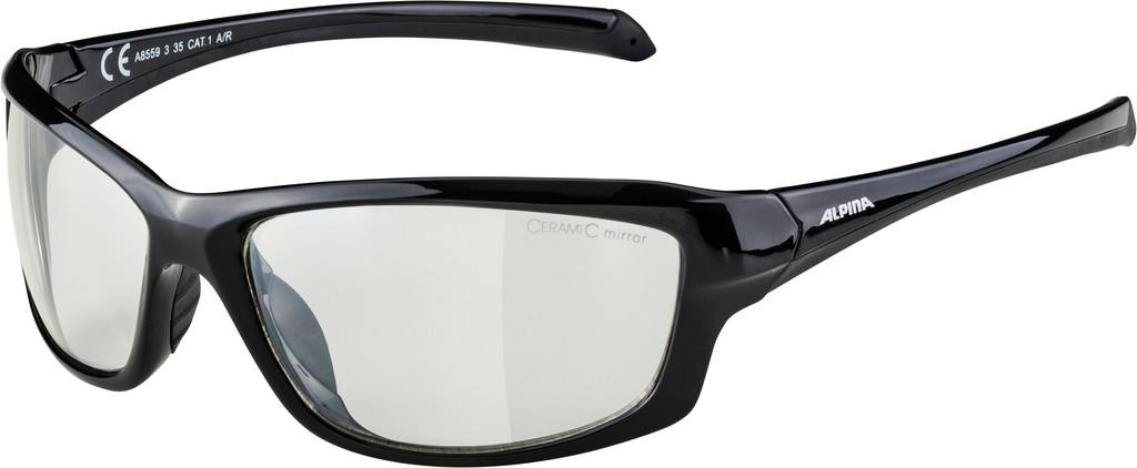 Slunecní brýle Alpina Dyfer, Obroucky cerná Skla cirá vzrcadl. S1