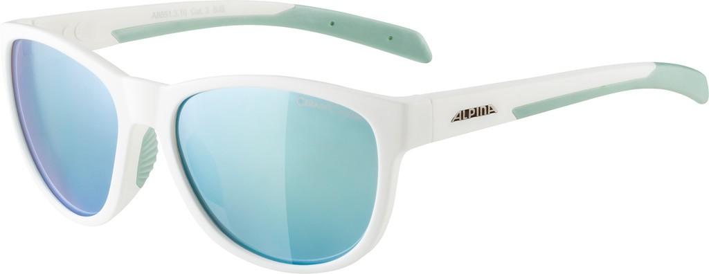 Slunecní brýle Alpina Nacan II, Obroucky bílá-pist. sklo emerald zrcadl.
