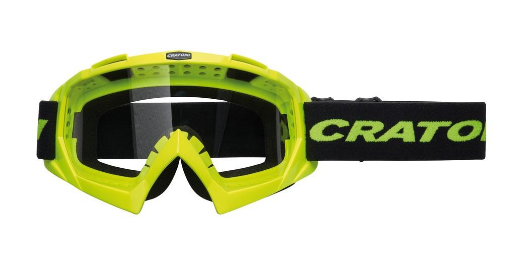 Cratoni C-Rage neonově žluté (čiré sklo)