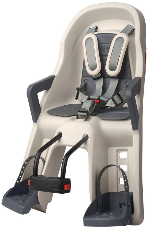 Detská sedacka prední PolisportGuppyMini, cream/šedá, uchycení na hlavovou trubku