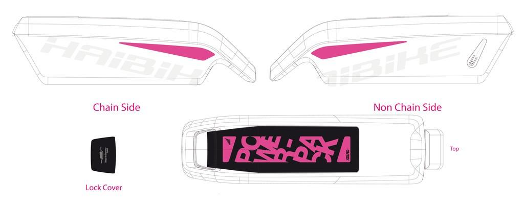Dekor E-Bike Xduro,p.kryt akumulátoru, Gen3 2016,bílá+cerná