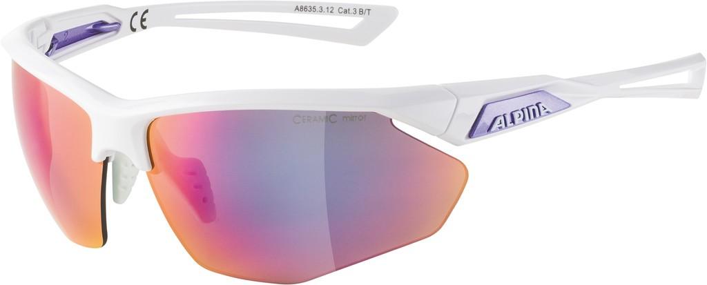 Slunecní brýle  Alpina Nylos HR Obrouc.bílá purpur.sklo purpur. zrcadl.