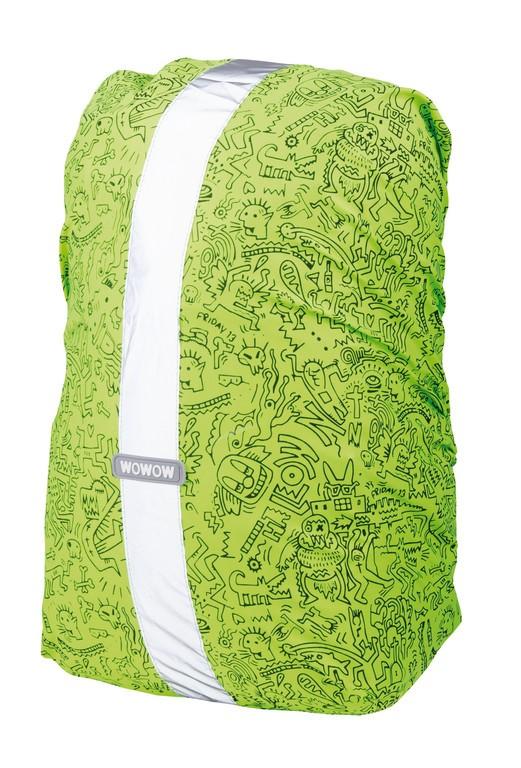 Obal na batoh Wowow Rebel Colors zelená, Graffiti-potisk, 25 L