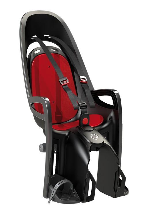 Detská sedacka Hamax Zenith nosic, šedá/cervená,  upevnení na nosic