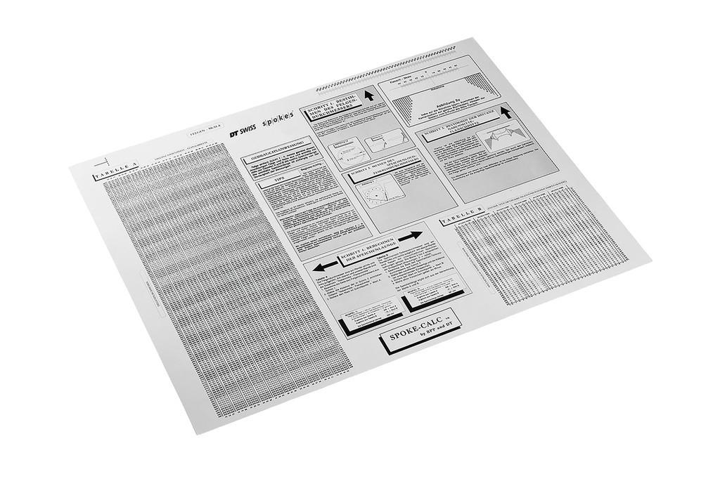 Tabulka DT Swiss délky výpletu TTSXXXXNSPLCHS