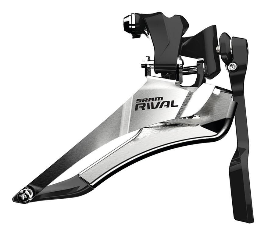 Přesmykač SRAM Rival22 Yaw s Chain Spotterem, navářka