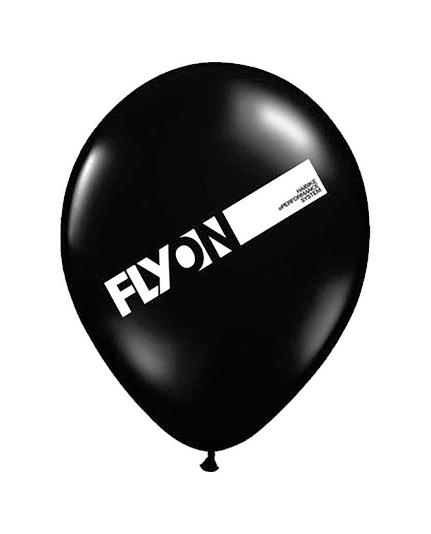 "Balónek Haibike ""FLYON"",cerná,""FLYON"" potisk"