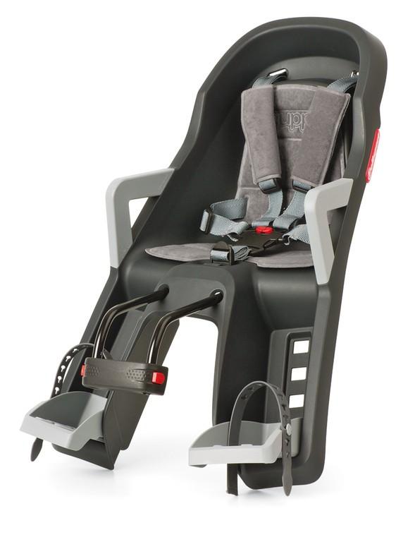 Dets.sedacka prední Polisport Guppy Mini, tm.šedá/stríbrná, uchyc. hlav.trubku