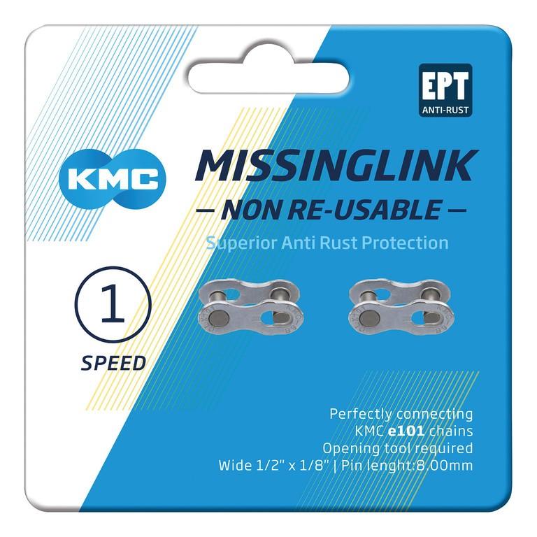 KMC Missinglink 101 NR EPT (2 ks) stříbrná